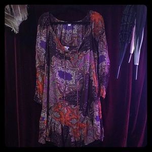 Xhilaratin hippie paisley blouse